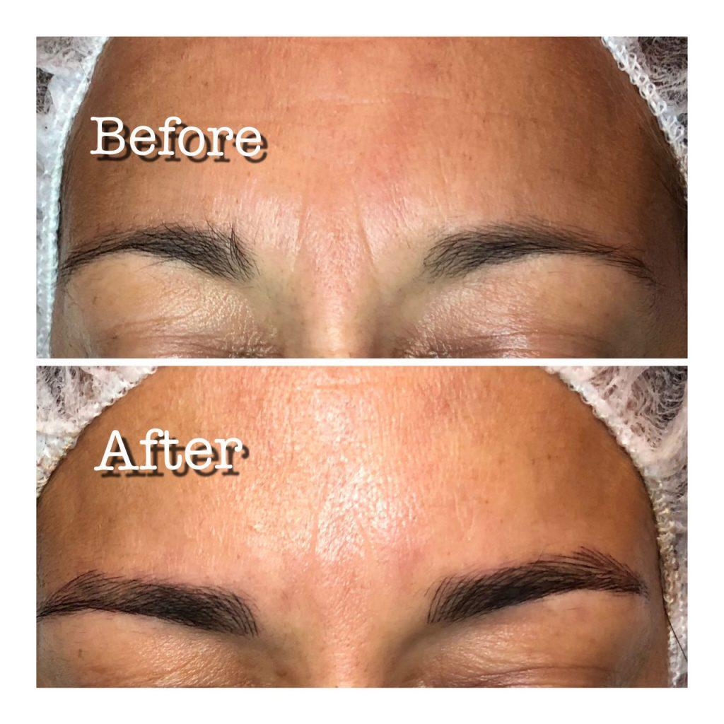 Microblading Skin2O Spa Before and After