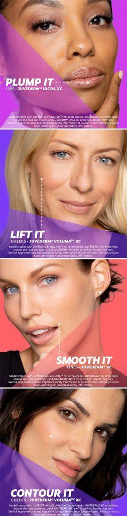 Juvederm Lift it, Plump It, Smooth It, Contour It